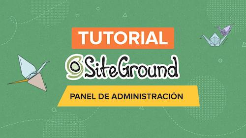 tutorial siteground en español